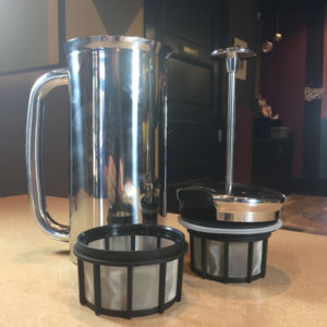 New French Press for sale Habitue Coffeehouse in LeMars, Iowa