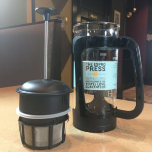French Press for sale Habitue Coffeehouse in LeMars, Iowa