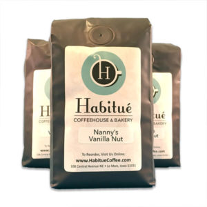 Nanny's Vanilla Nut Coffee - Coffee for sale Habitue Coffehouse in LeMars, Iowa