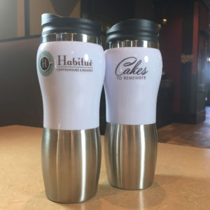 Travel Tumbler for sale Habitue Coffehouse in LeMars, Iowa
